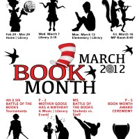 The 2012 ICSV Library Book Month Event Poster
