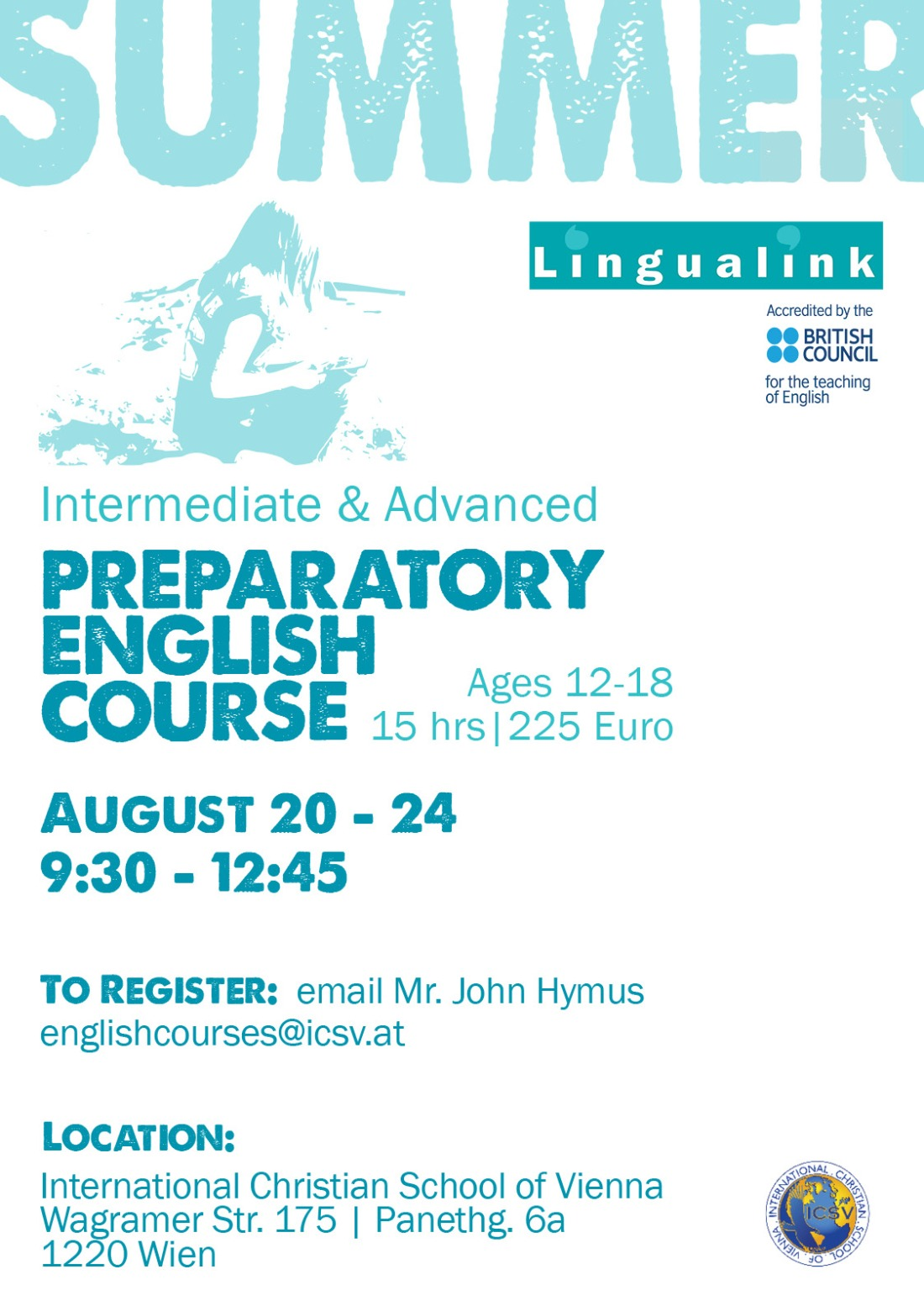 Linqualink at ICSV | Summer English Language Course Announcement
