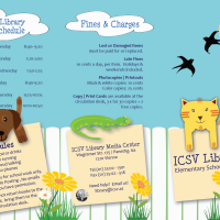 ICSV Library's 2012-13 Elementary School  Tri-Fold Brochure  Finished!
