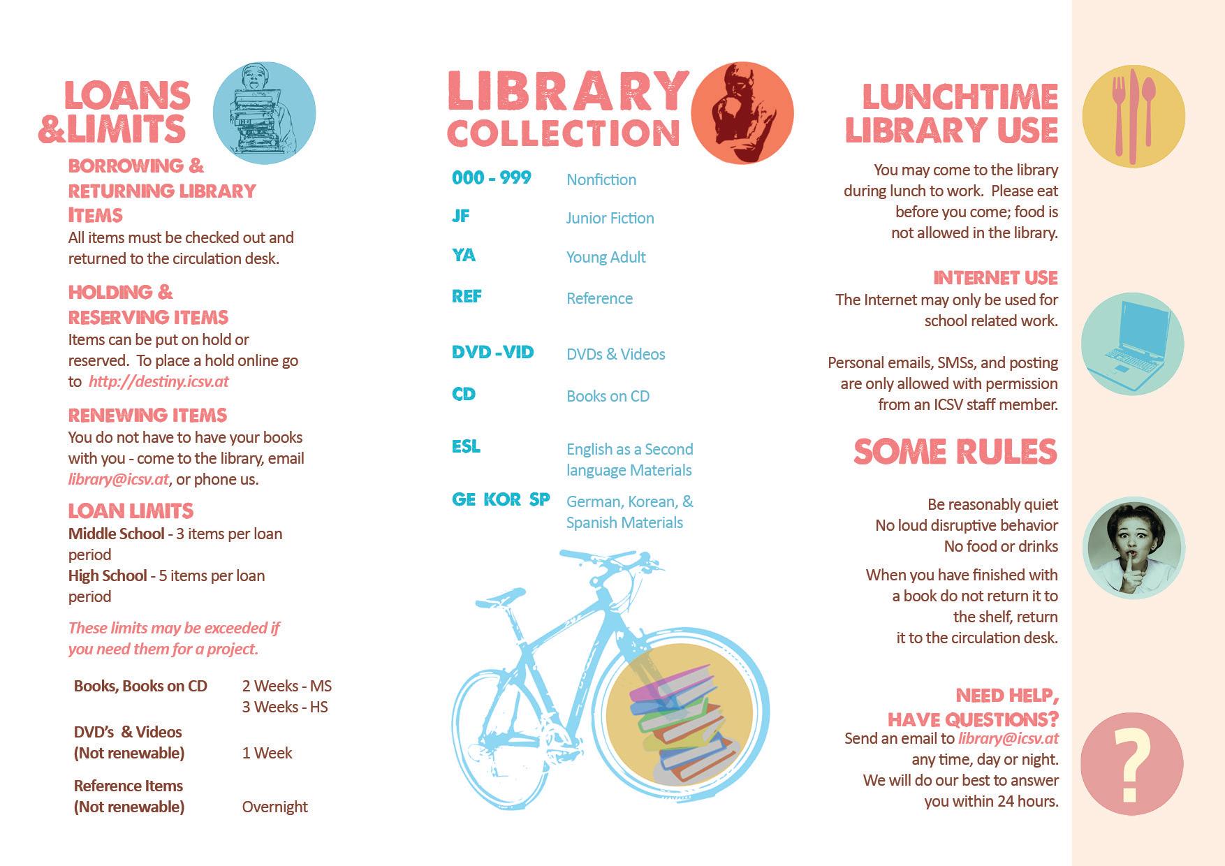 school library information brochure dax graphics