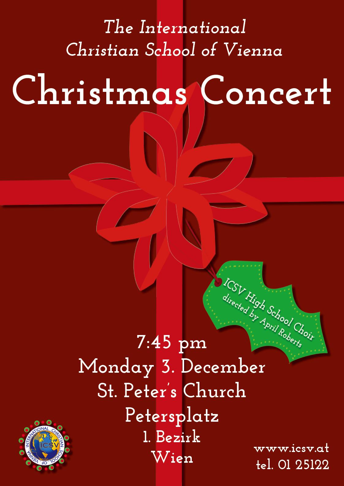 christmas concert poster