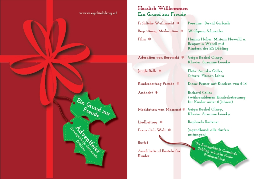 Church Advent Program 2012