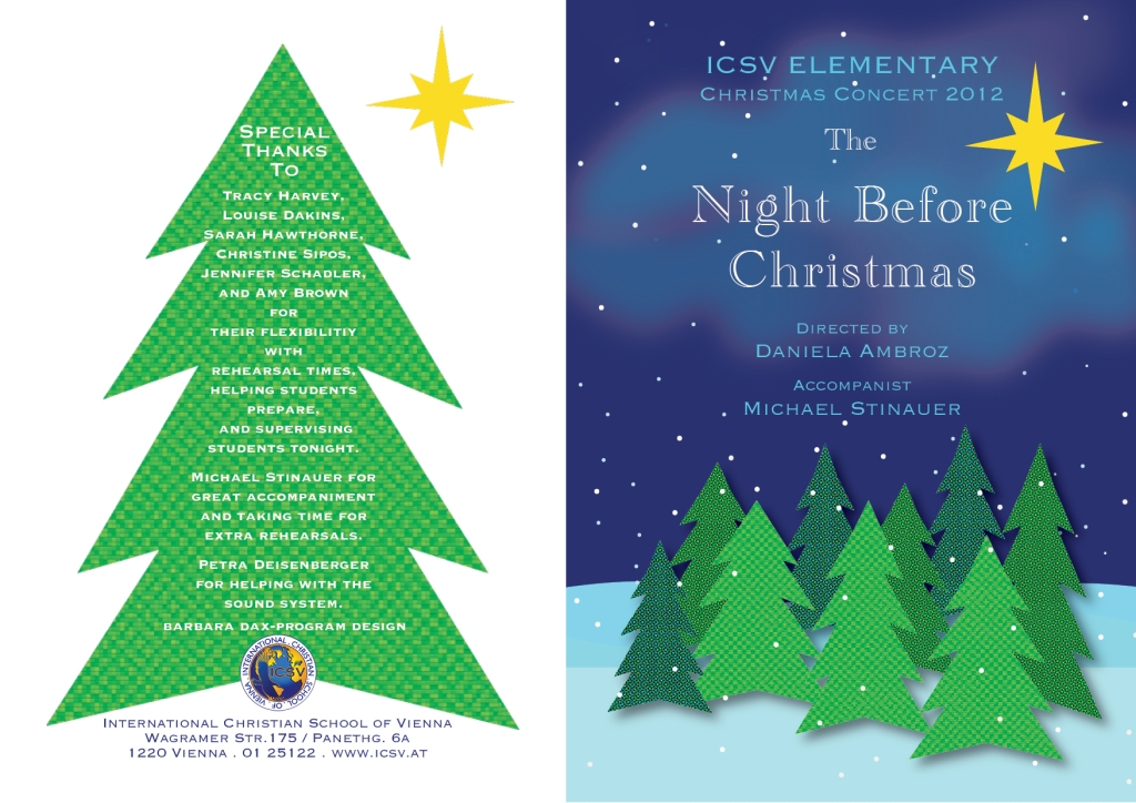 ICSV's Elementary 2012 Christmas Concert Program