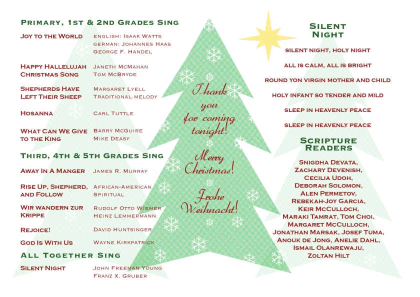 EL Christmas Concert Program 20122