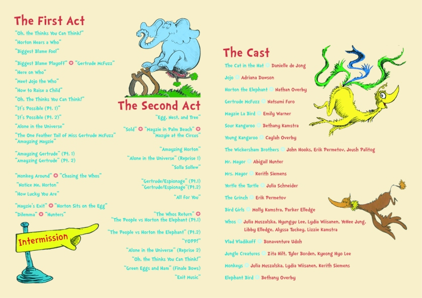 Seussical Program2