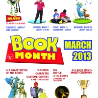 The 2013 ICSV Library Book Month Event Poster