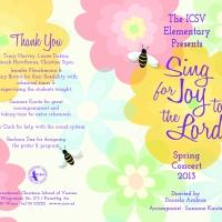ICSV Elementary School Spring Concert Program 2013