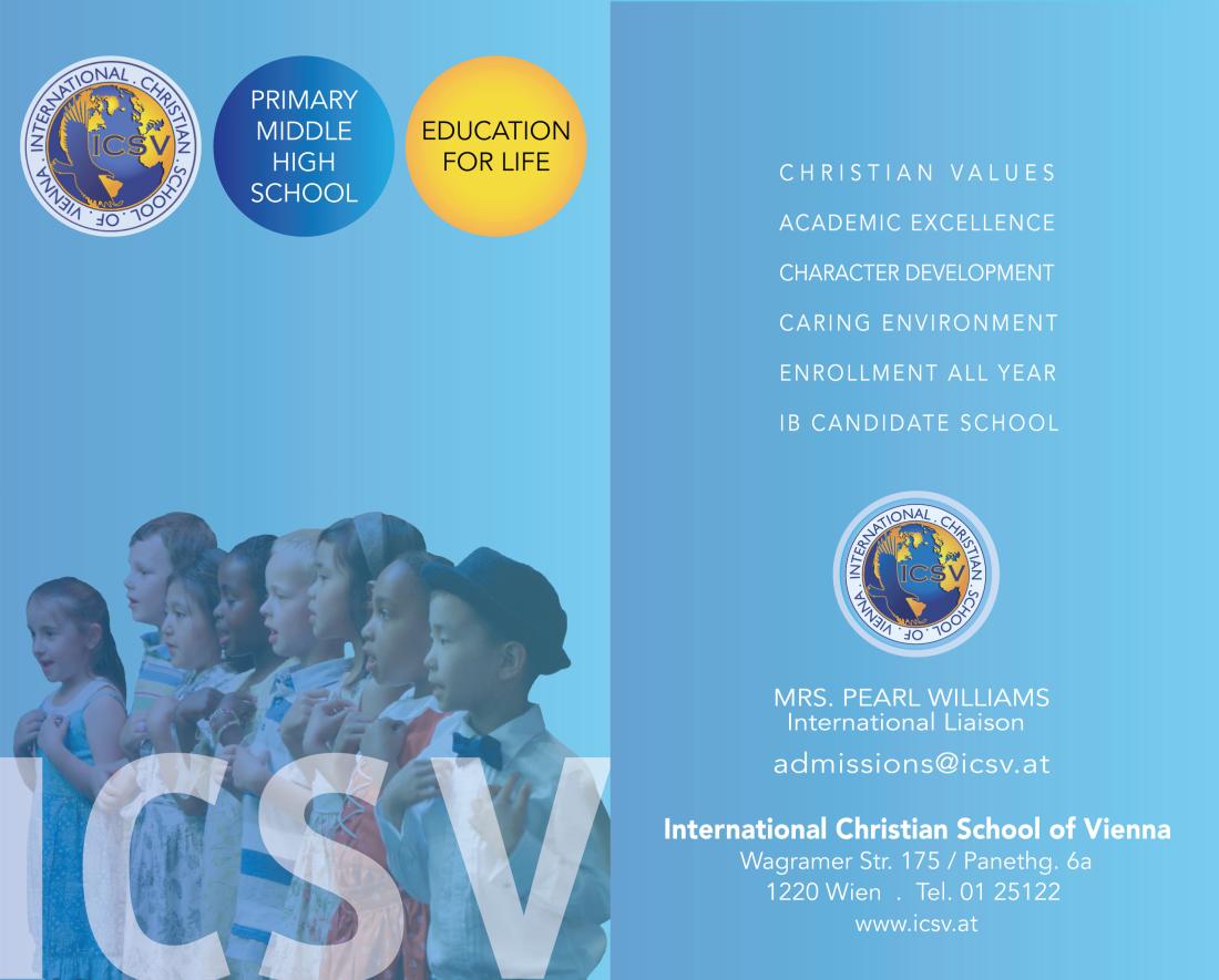 ICSV Flyer -  School Promotional Flyer 2013 - Front & Back