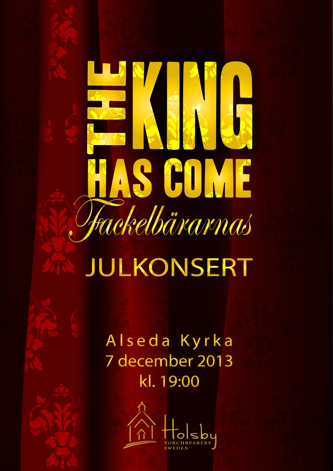 Poster Design for Eldridge | Holsby Sweden | Christmas Concert 2013