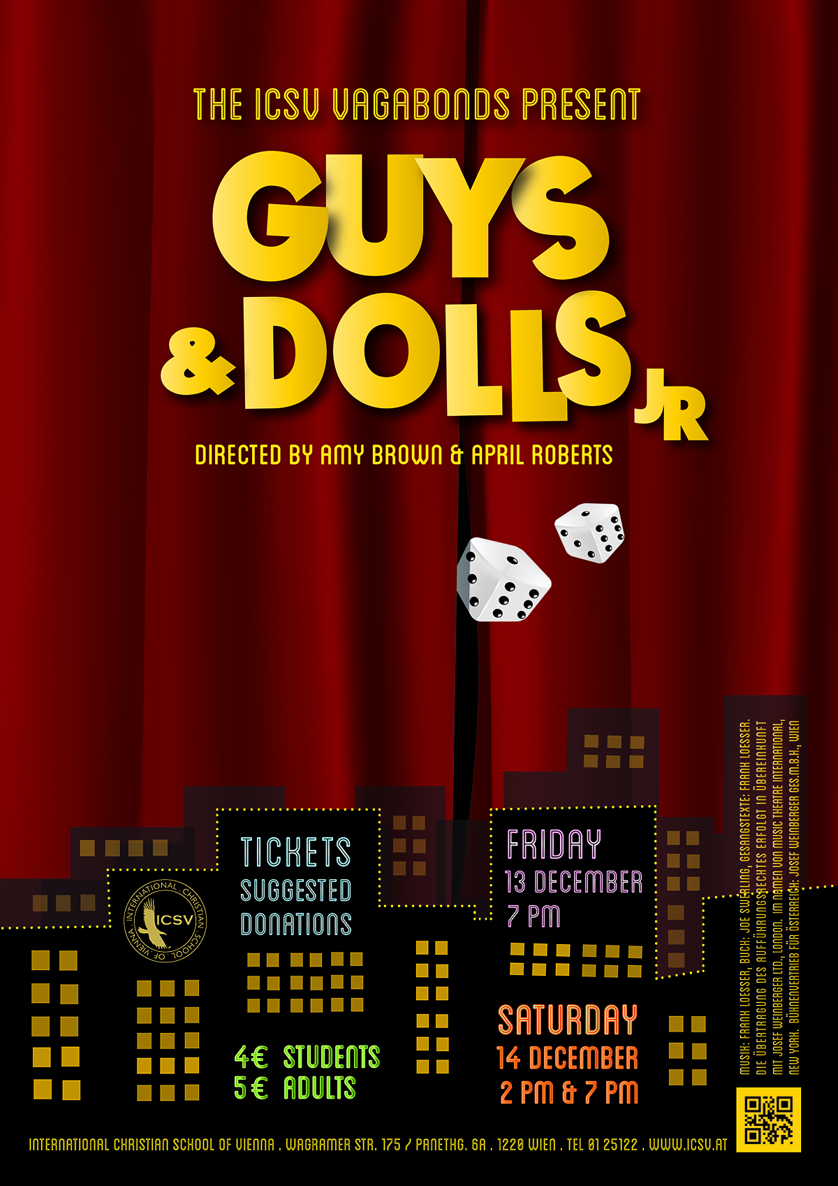ICSV Guys amp Dolls Poster Final Draft Coming Soon