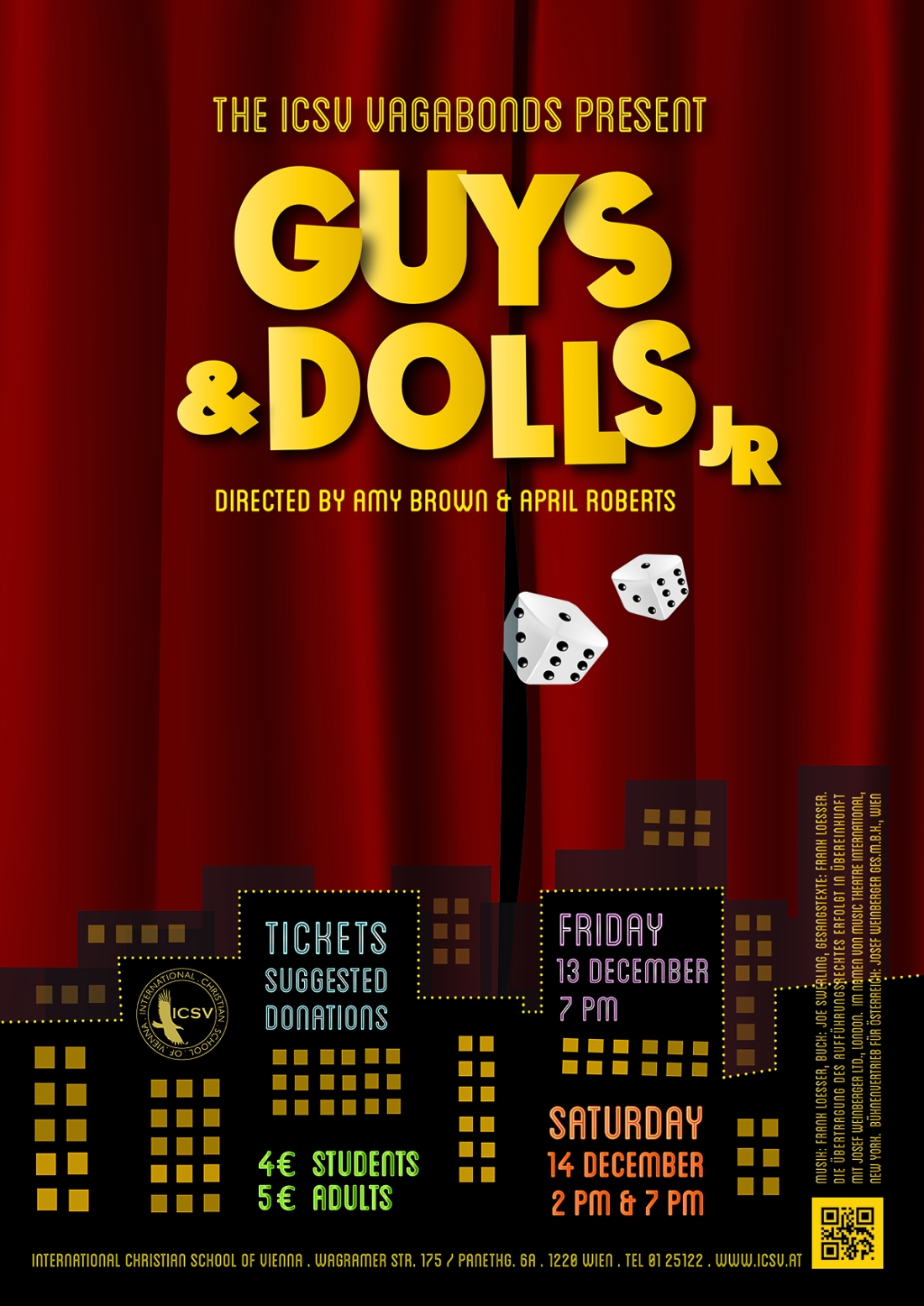 ICSV Guys & Dolls Poster - Final Draft - Coming Soon - December 13 & 14