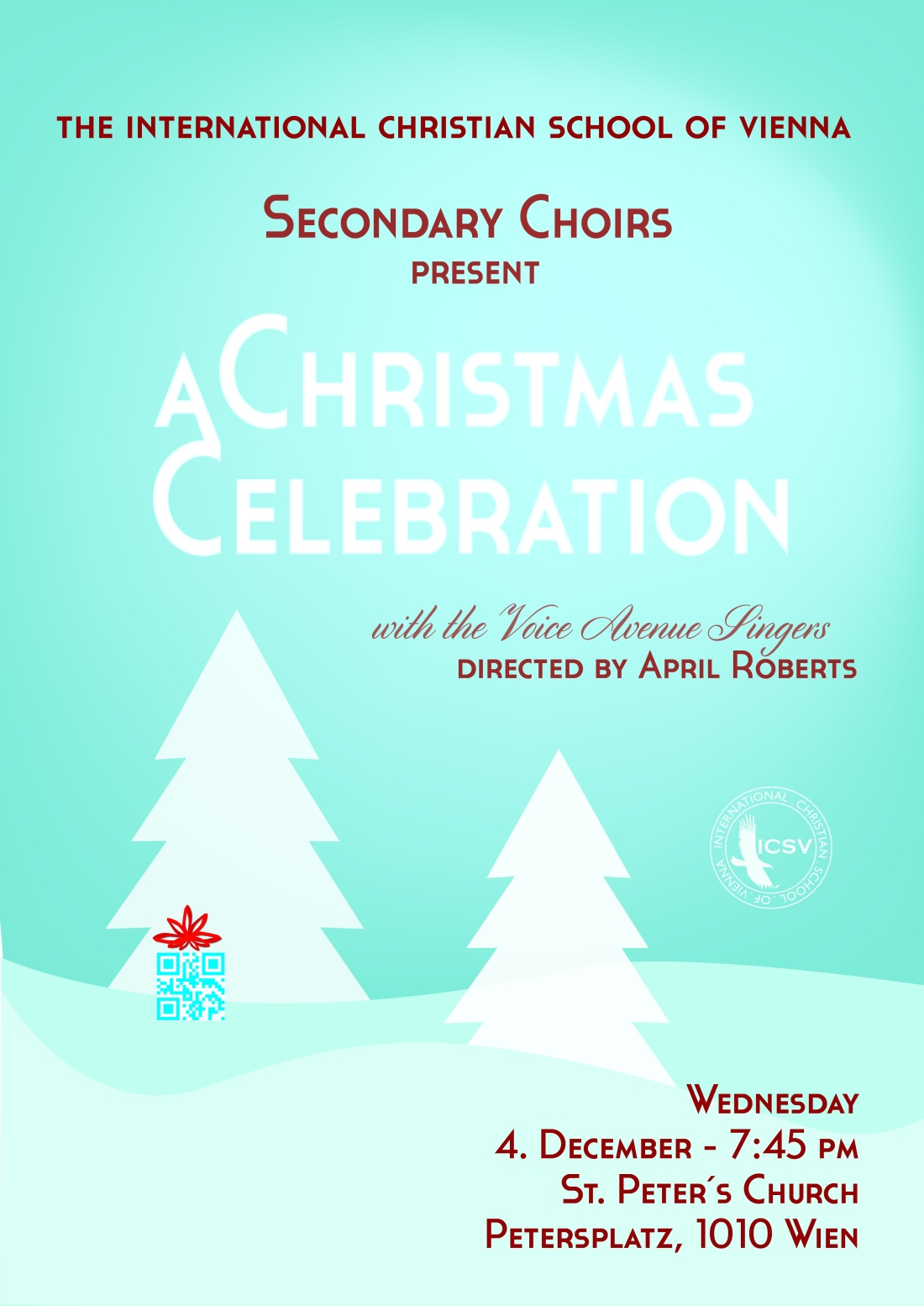 ICSV Secondary Choirs Christmas Concert Poster 2013 - Final Draft