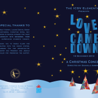 ICSV Elementary Christmas Concert Program - Love Came Down - December 2013