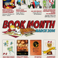 ICSV Library Book Month Event Poster 2014