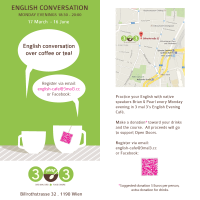 Flyer Design for English Conversation Course 2014 (Front & Back)