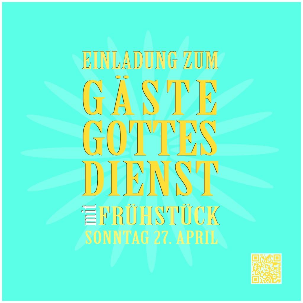 GASTE GOTTESDEINTS 27 APRIL-01