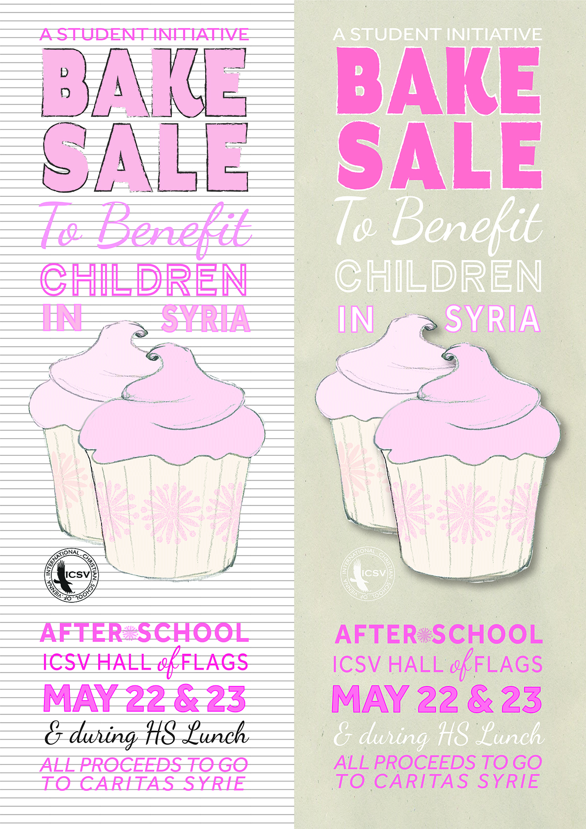 student initiated bake for children in syria versions of student initiated bake for children in syria 2 versions of the same poster 2014 dax graphics9767