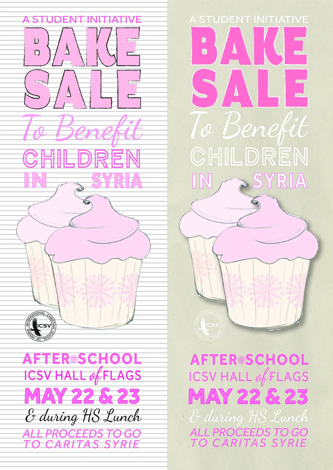 student initiated bake for children in syria versions of print