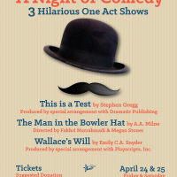 "Latest Poster - ""Night of Comedy - 3 One Act Plays"" - An ICSV Theatre Production"