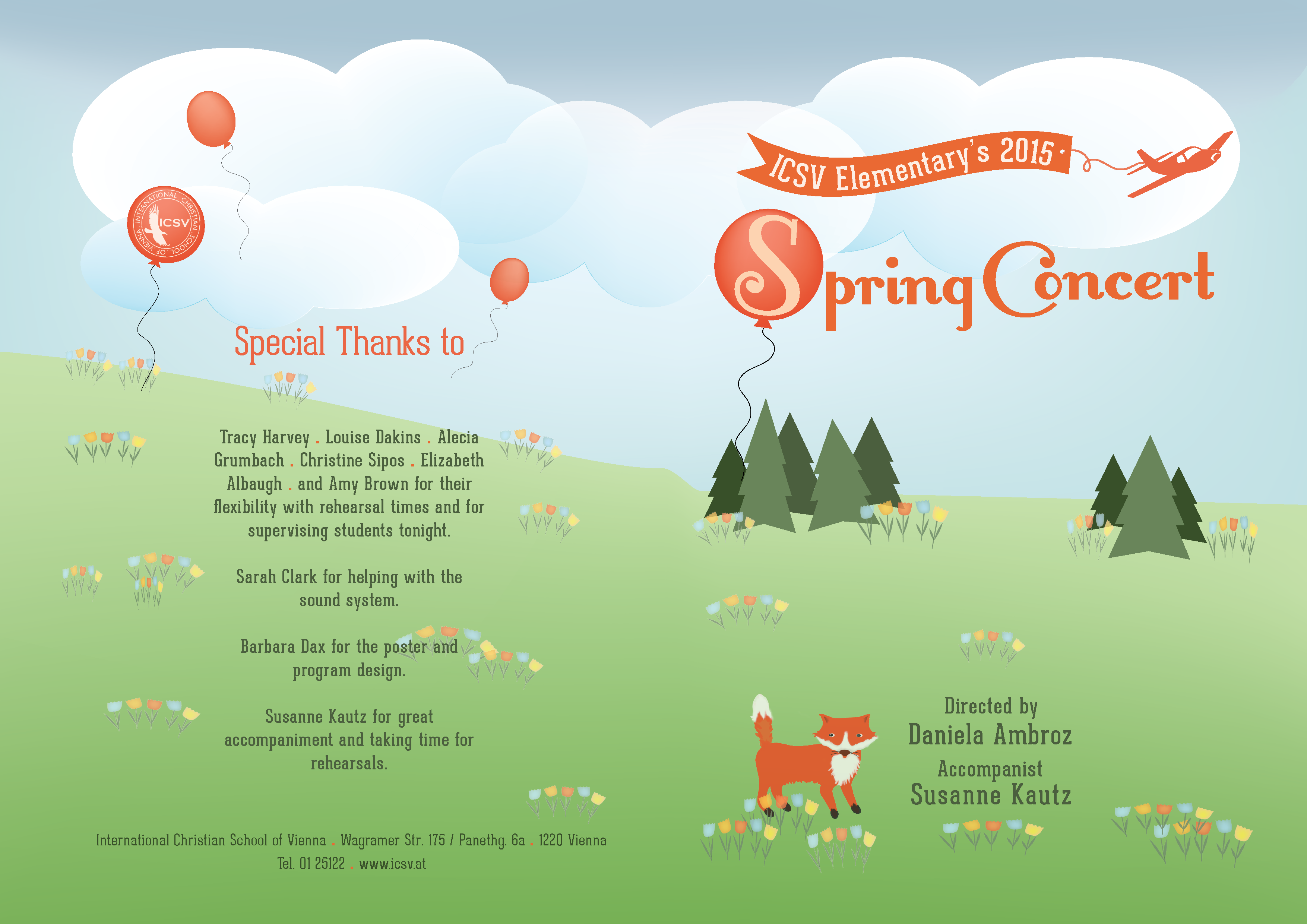 The 2015 ICSV Elementary Spring Concert Program front inside – Concert Program
