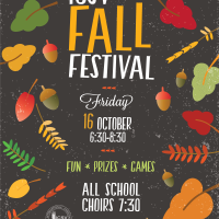 Newest Poster!  Almost finished. ICSV Fall Festival 2015